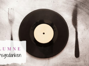 Musikgeschmack Kolumne Titelbild Schallplatte mit gemaltem Besteck