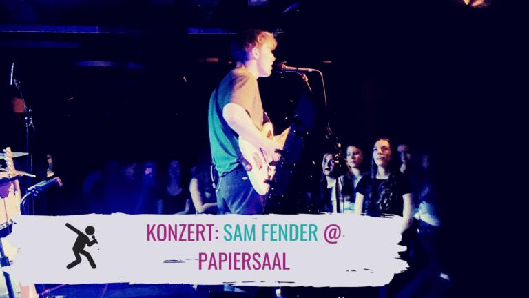 Konzertbericht Sam Fender Papiersaal