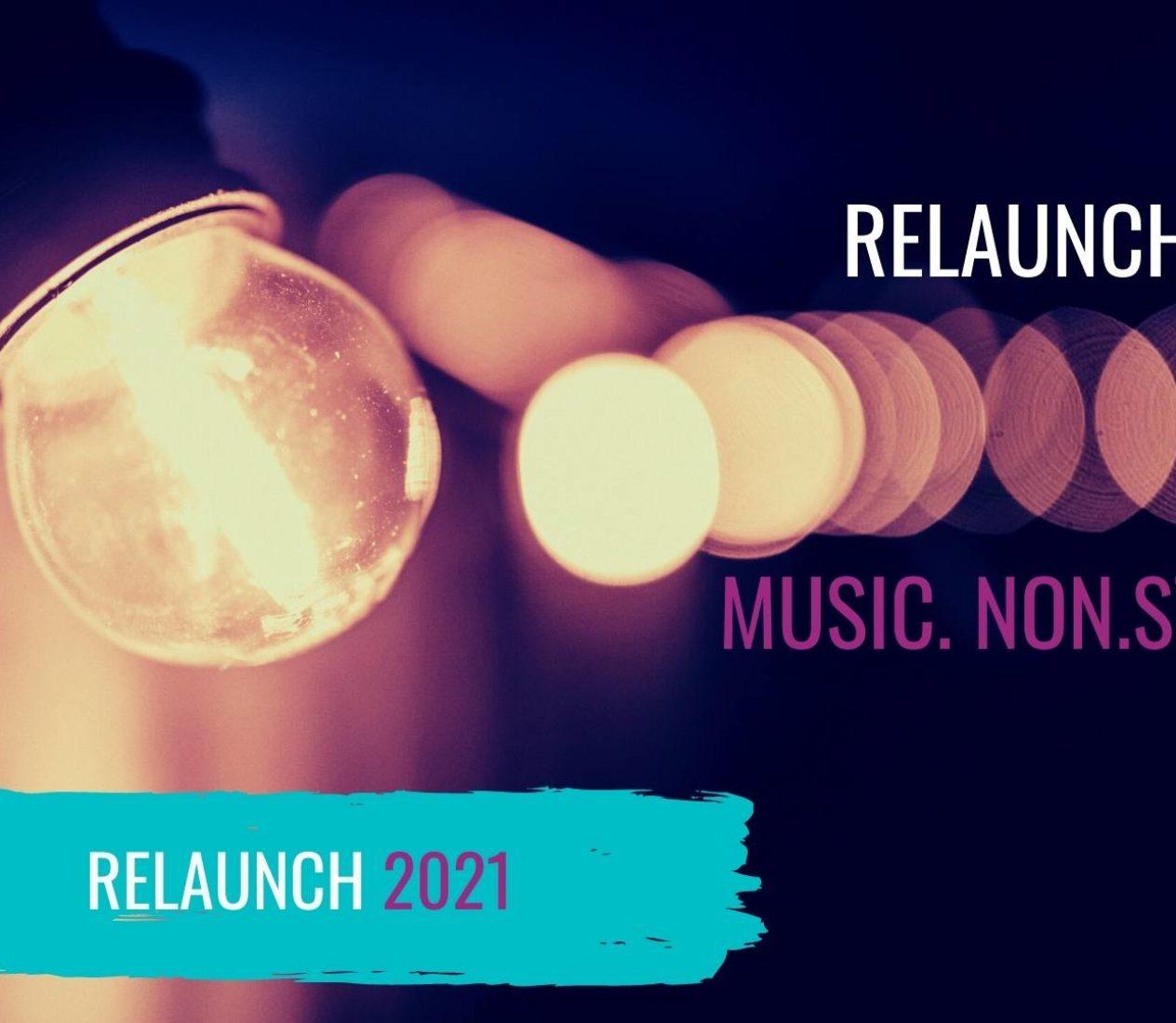 Blog Relaunch 2021: MUSIC. NON. STOP. mit frischem Anstrich